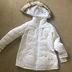 MK Coat with fur hood